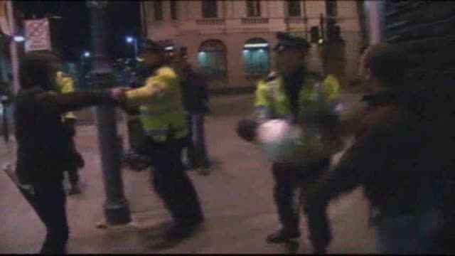 News video: Raw: Scuffles in London After Hacking Death