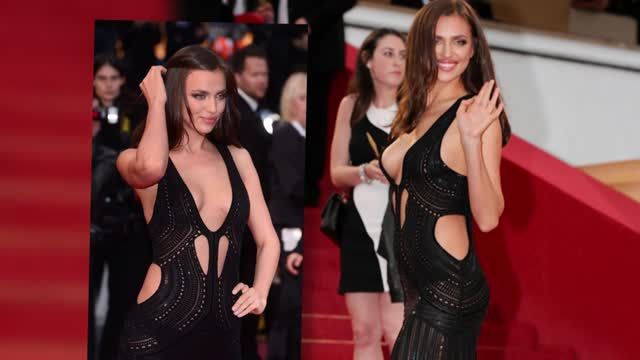 News video: Irina Shayk Narrowly Avoids Wardrobe Malfunction in See-Through Dress at Cannes