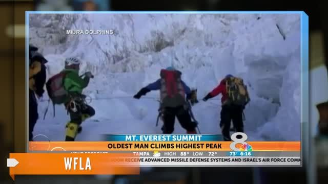 News video: Oldest Man to Climb Mt. Everest, For Now